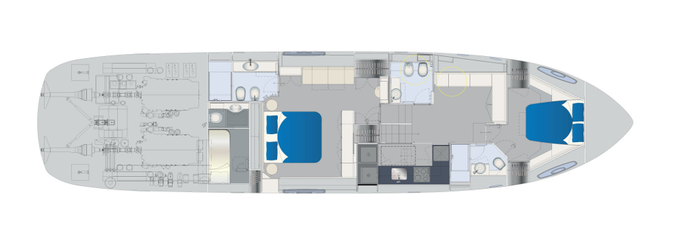 Pershing 70 Layout (img-4)