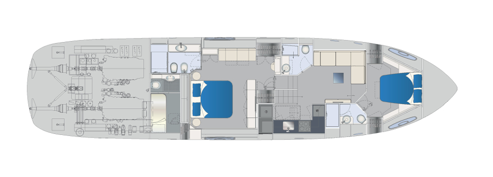 Pershing 70 Layout (img-5)