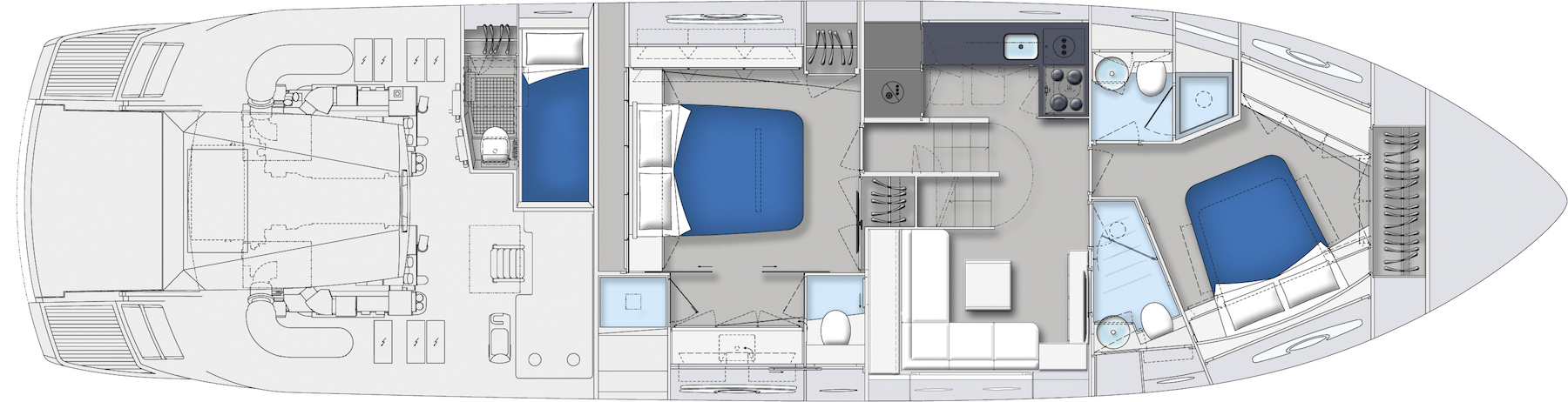 Pershing 62 Layout (img-4)