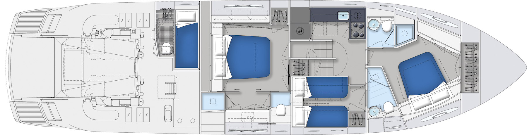 Pershing 62 Layout (img-3)