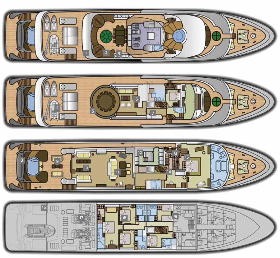 Turquoise Yachts 54 mts Layout (img-0)