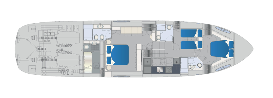 Pershing 70 Layout (img-3)