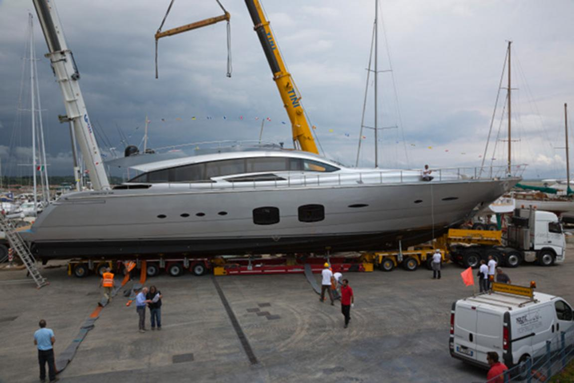 Pershing launched its third 108-foot maxi yacht. image