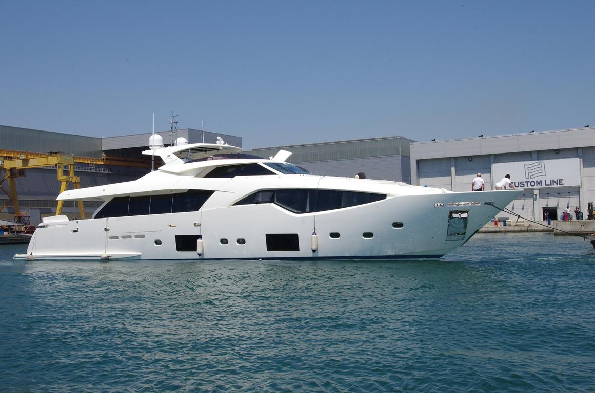 The first Custom Line 108' touches the water. image