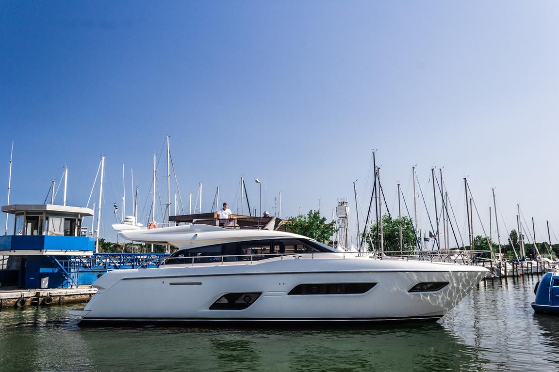 The first Ferretti Yachts 550 has been launched, and is already a great success before its debut. image