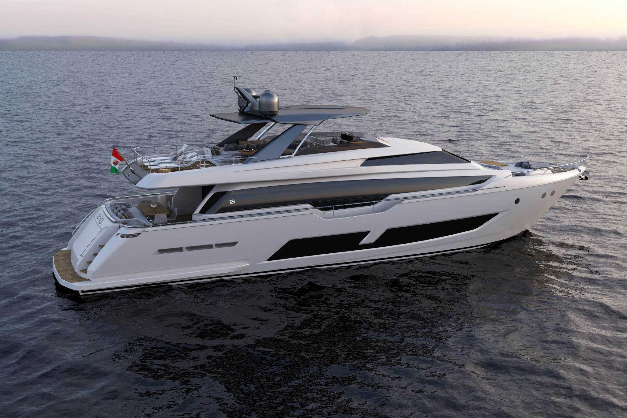 Ferretti Yachts 850: The boldest and most seductive flybridge yacht image