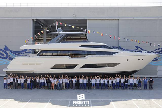 Launch of the first Ferretti Yachts 850: the boldest and most beguiling flybridge. image