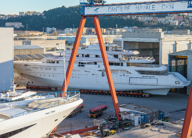 Spectacular megayacht relocation at CRN image