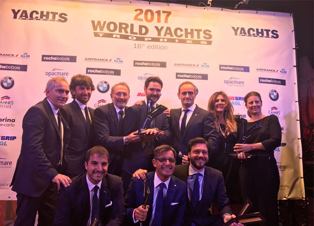 "Ferretti Group is ""Shipyard of the Year"" winning as many as 5 awards at the World Yachts Trophies 2017 image"
