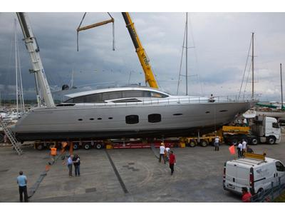 Pershing launched its third 108-foot maxi yacht.