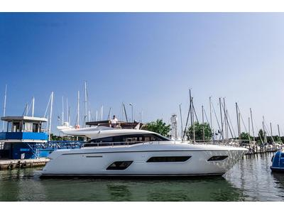 The first Ferretti Yachts 550 has been launched, and is already a great success before its debut.
