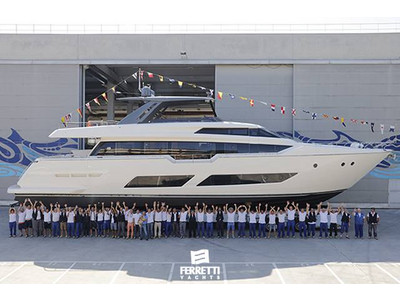 Launch of the first Ferretti Yachts 850: the boldest and most beguiling flybridge.
